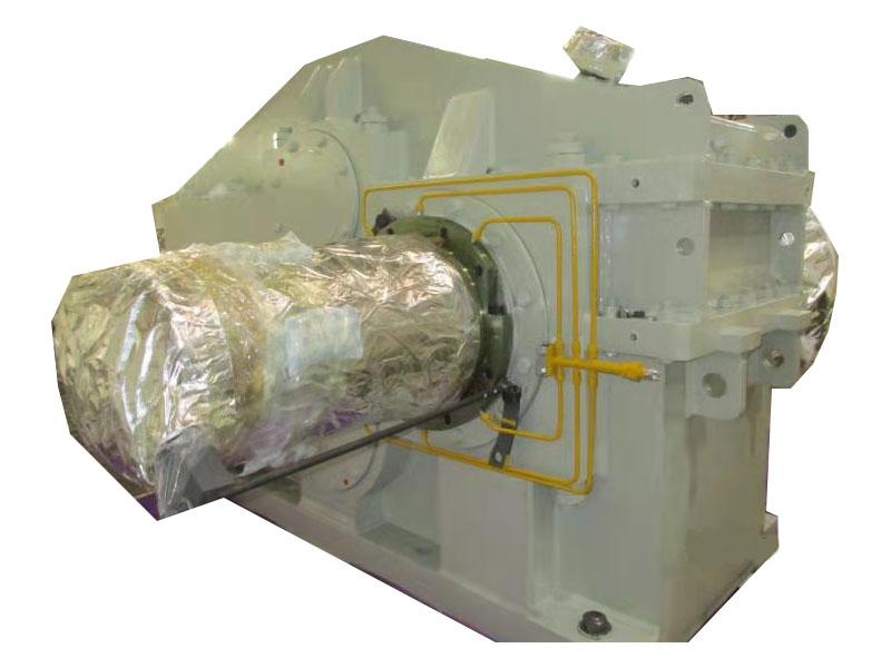 duroed helical gear unit